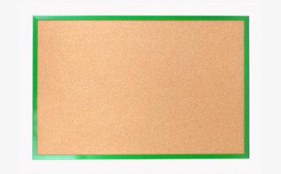 Tablice korkowe w ramie drewnianej kolorowej